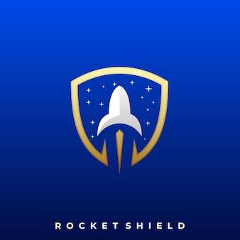Modelo de design de ilustração de ícone de foguete