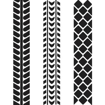 Modelo de design de ilustração de ícone de vetor de pneu