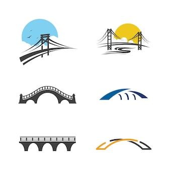 Modelo de design de ilustração de ícone de vetor de ponte