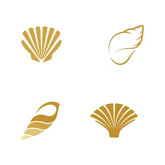 Modelo de design de ilustração de ícone de vetor shell