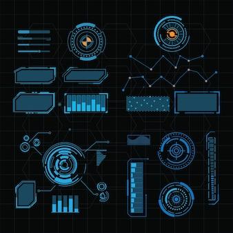 Modelo de design de ilustração de interface de usuário futurista
