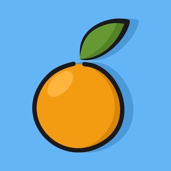 Modelo de design de ilustração de laranja