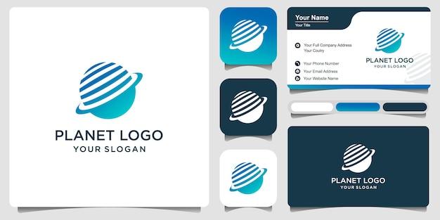 Modelo de design de ilustração de logotipo de vetor de tecnologia mundial