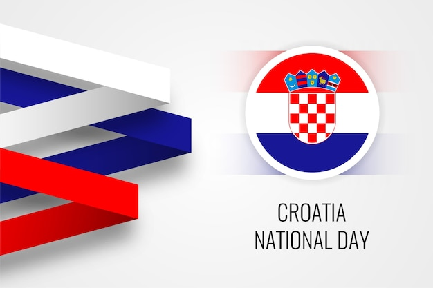 Modelo de design de ilustração do dia nacional da croácia