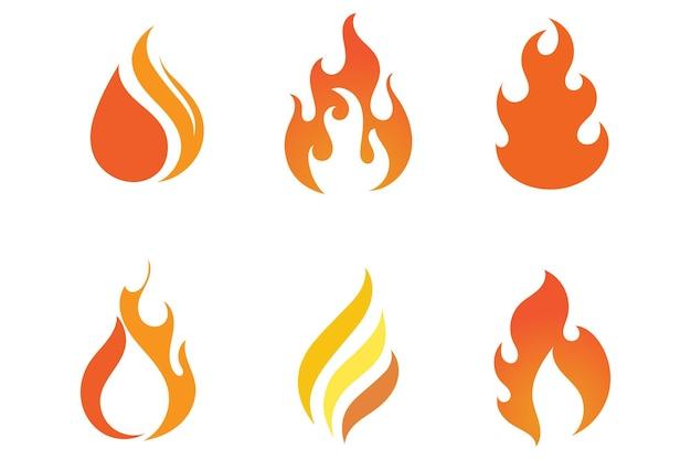 Modelo de design de ilustração vetorial de chama de fogo