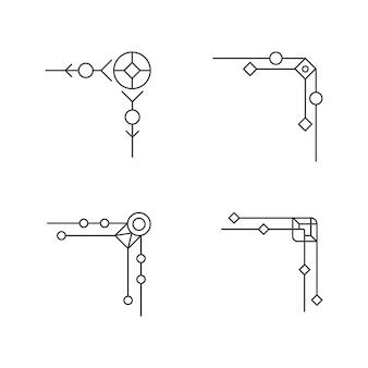 Modelo de design de ilustração vetorial de fronteira