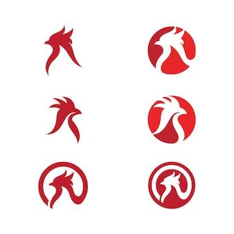 Modelo de design de ilustração vetorial de ícone de frango