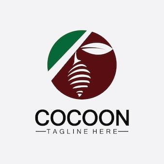 Modelo de design de ilustração vetorial de logotipo cocoon