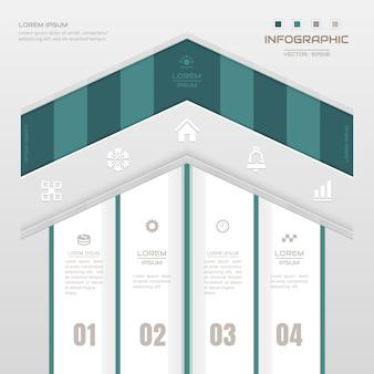 Modelo de design de infografia com ícones de negócios