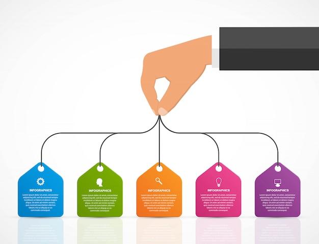 Modelo de design de infografia.