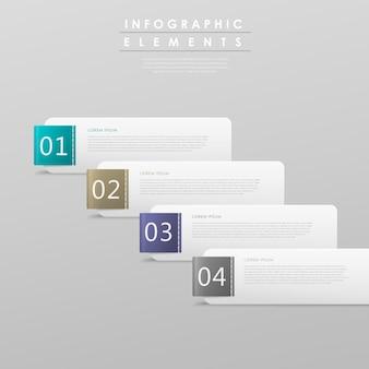 Modelo de design de infográfico abstrato com elemento de conjunto de tags