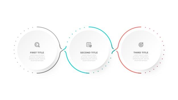 Modelo de design de infográfico com ícones de marketing