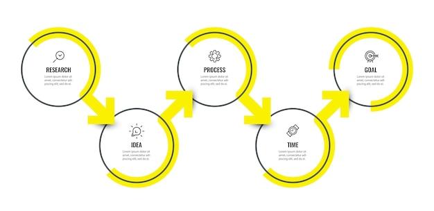 Modelo de design de infográfico com opções