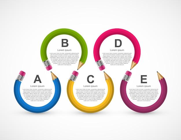 Modelo de design de infográfico de educação.
