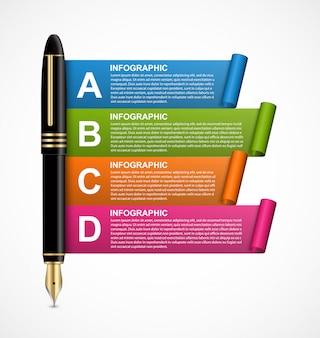 Modelo de design de infográfico de negócios.