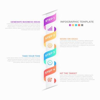 Modelo de design de infográfico de negócios