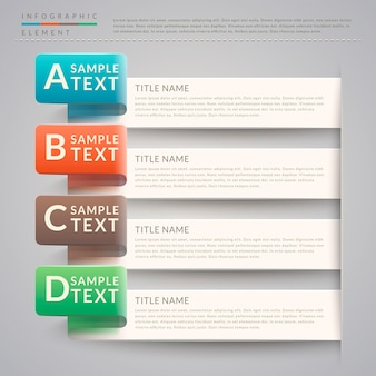 Modelo de design de infográfico de simplicidade com opções de banner