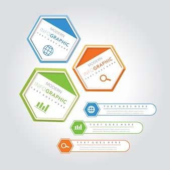 Modelo de design de infográfico de vetor