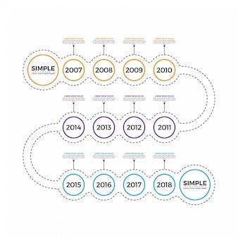 Modelo de design de infográfico mínima de linha fina.