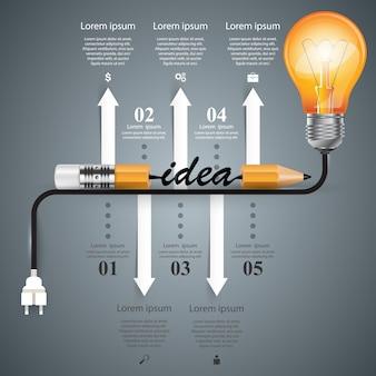 Modelo de design de infográfico.