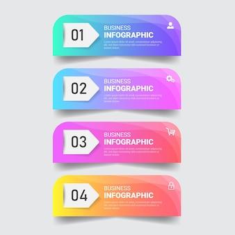 Modelo de design de infográficos coloridos