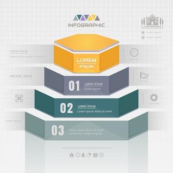 Modelo de design de infográficos com ícones de negócios