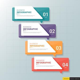 Modelo de design de infográficos de cronograma de 4 etapas.