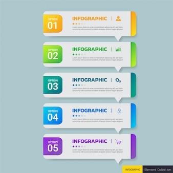 Modelo de design de infográficos de negócios