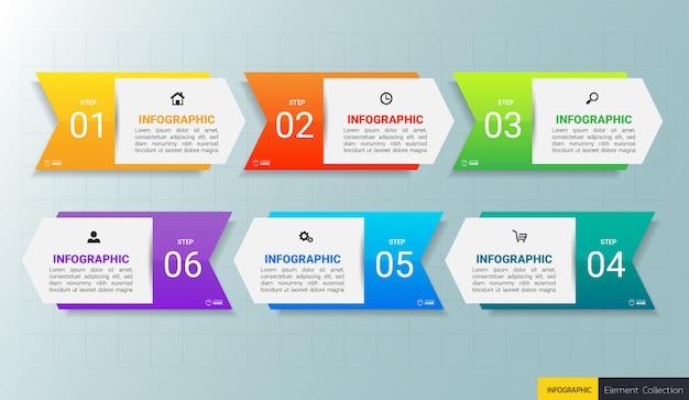 Modelo de design de infográficos de negócios.