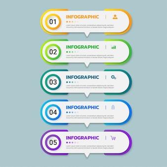 Modelo de design de infográficos.