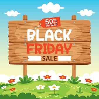 Modelo de design de inscrição de venda de sexta-feira negra