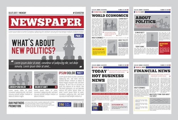 Modelo de design de jornal