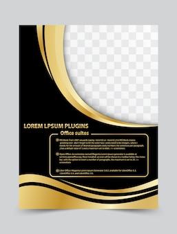 Modelo de design de layout brochura flyer para o seu negócio. fundo do vetor