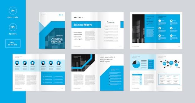 Modelo de design de layout com página de capa para brochura comercial editável