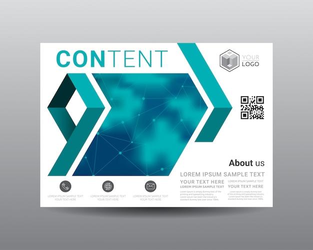 Modelo de design de layout de apresentação de negócios.