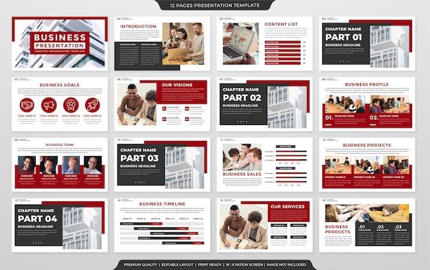 Modelo de design de layout de apresentação