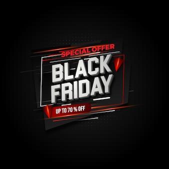 Modelo de design de layout de banner de venda sexta-feira negra. design de movimento de cor vermelha e preta.