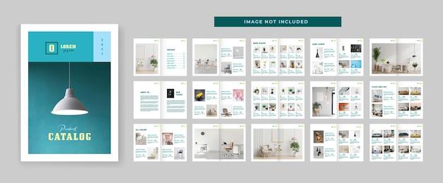 Modelo de design de layout de catálogo de produtos