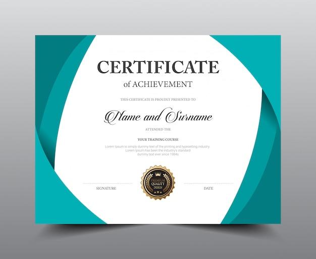 Modelo de design de layout de certificado. luxo e estilo moderno, obras de arte.