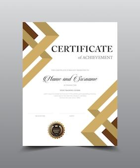 Modelo de design de layout de certificado.