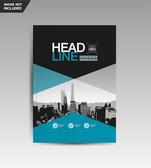 Modelo de design de layout, livro de capa, vetor