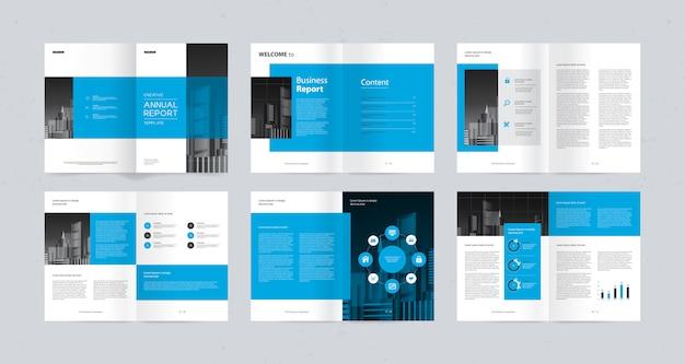 Modelo de design de layout para o perfil da empresa