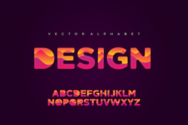 Modelo de design de letra do alfabeto