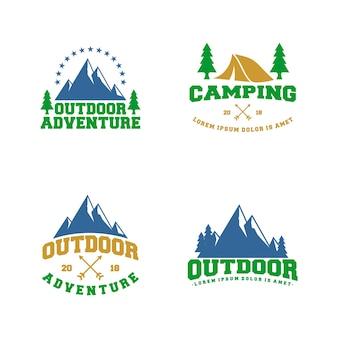 Modelo de design de logotipo ao ar livre