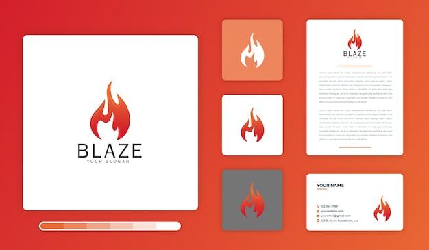 Modelo de design de logotipo blaze