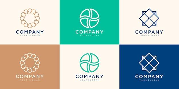 Modelo de design de logotipo circular abstrato.