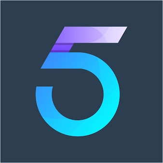 Modelo de design de logotipo colorido número 5