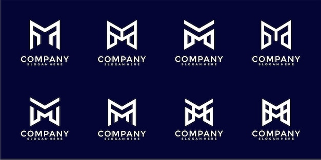 Modelo de design de logotipo com monograma letra m inspiradora