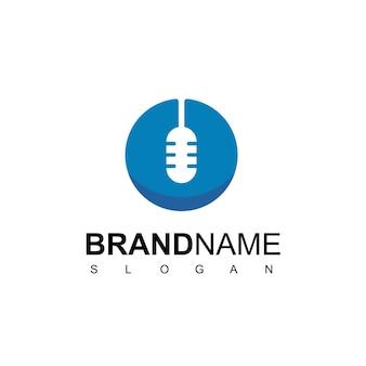 Modelo de design de logotipo comercial de podcast