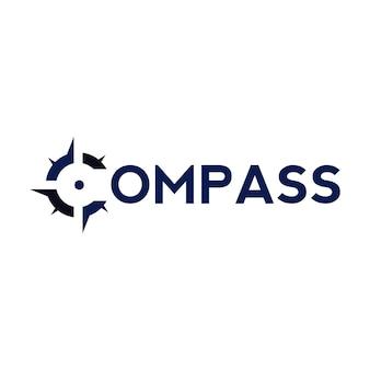 Modelo de design de logotipo compass